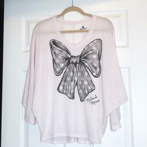 Disney Parks Minnie Mouse Bow Dolman Top